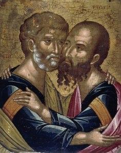 Ikon föreställande Petrus och Paulus